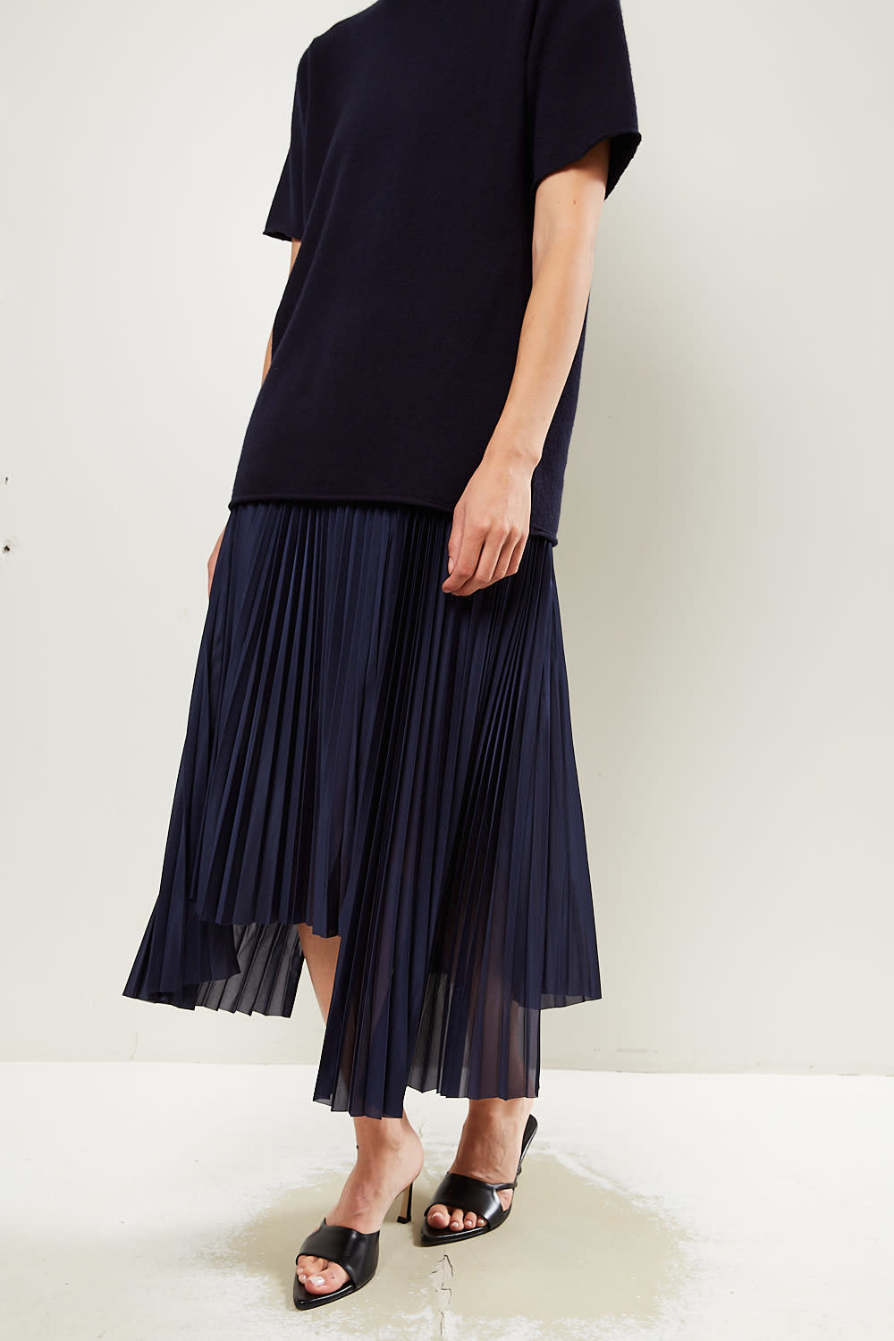 Helmut Lang Pleat tricot skirt