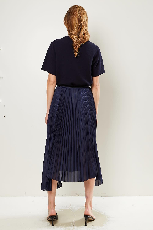 Helmut Lang - Pleat tricot skirt