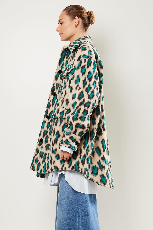 MM6 Panther print shirt jacket MM6