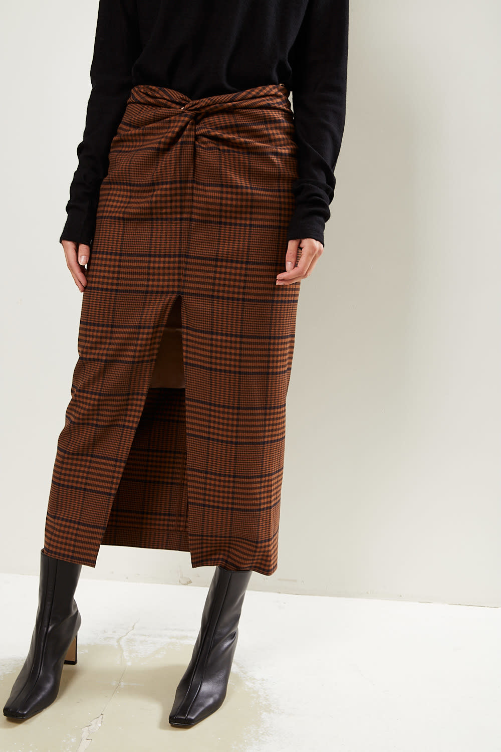 Nanushka Samara tweed skirt