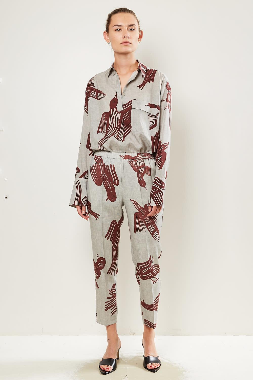 Christian Wijnants - Perun wool silk pants