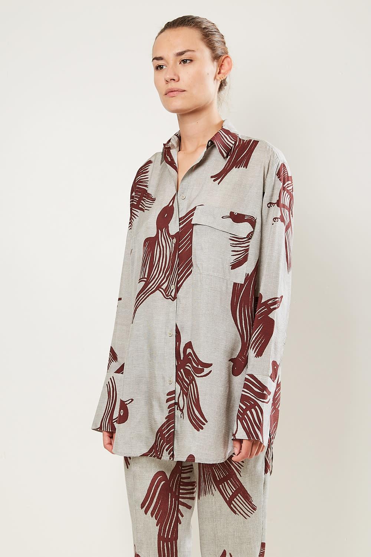 Christian Wijnants - Tumpe silk blend shirt