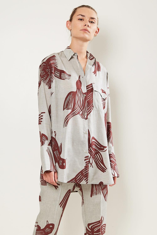 Christian Wijnants Tumpe silk blend shirt