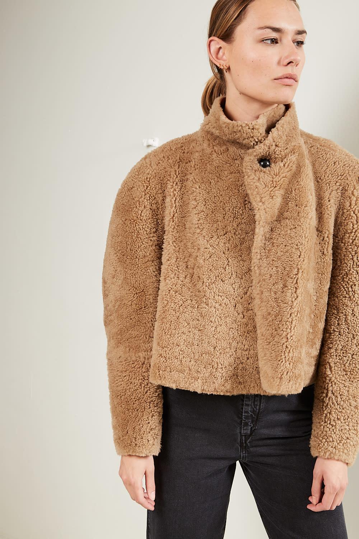 Isabel Marant Acaciae curly shearling coat