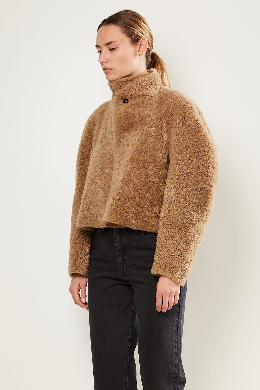 Isabel Marant - Acaciae curly shearling coat