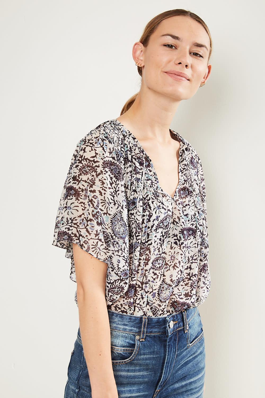Etoile Isabel Marant - Neslya printed georgette top