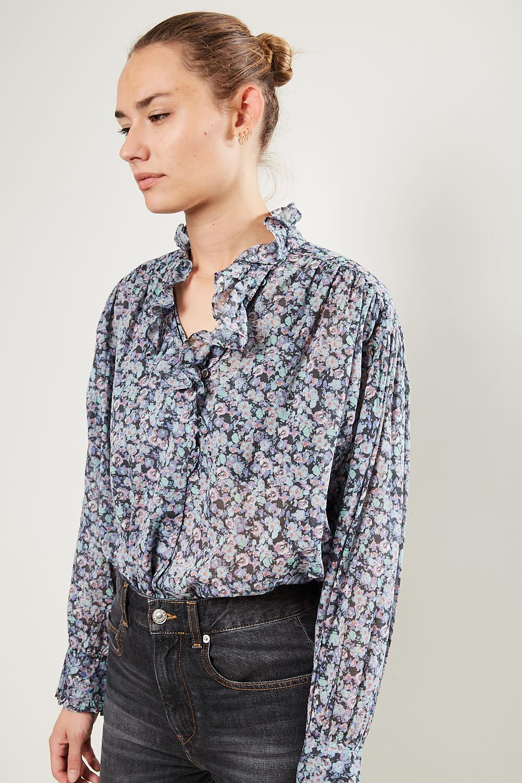 Etoile Isabel Marant Pamias printed cotton top