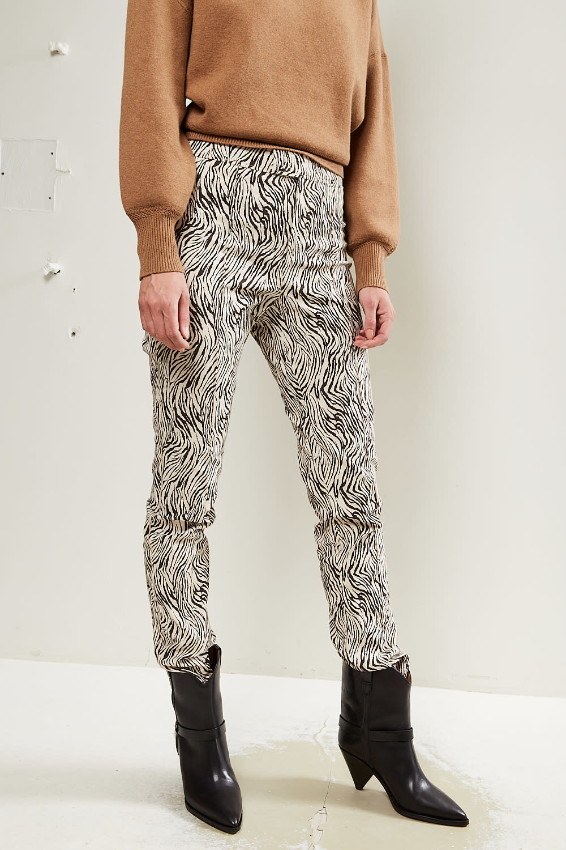 Isabel Marant - Waren zebra stretch trousers