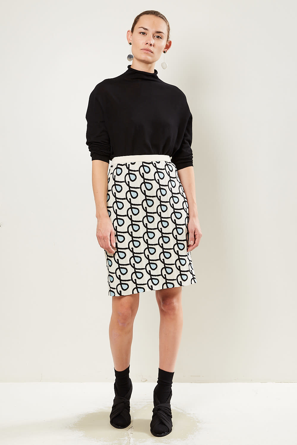 Christian Wijnants Khira viscose blend skirt