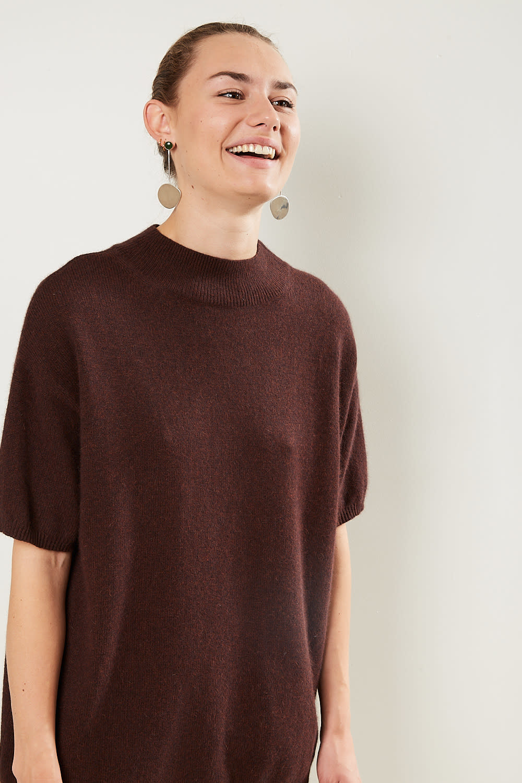 loulou studio - Pertusato short sleeves sweater