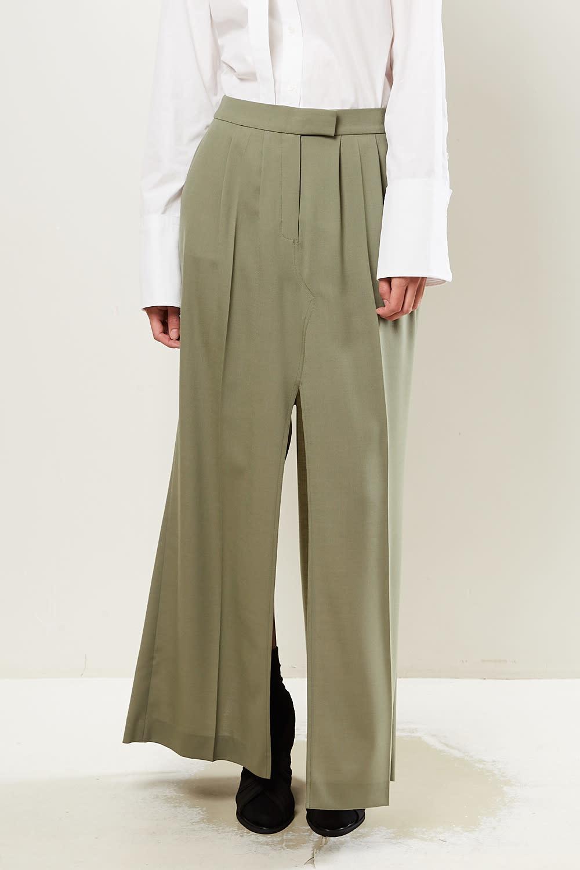 Frenken - Petrol light suiting wool skirt