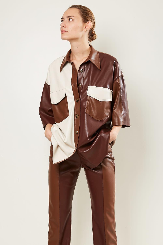 Nanushka - Roque vegan leather shirt