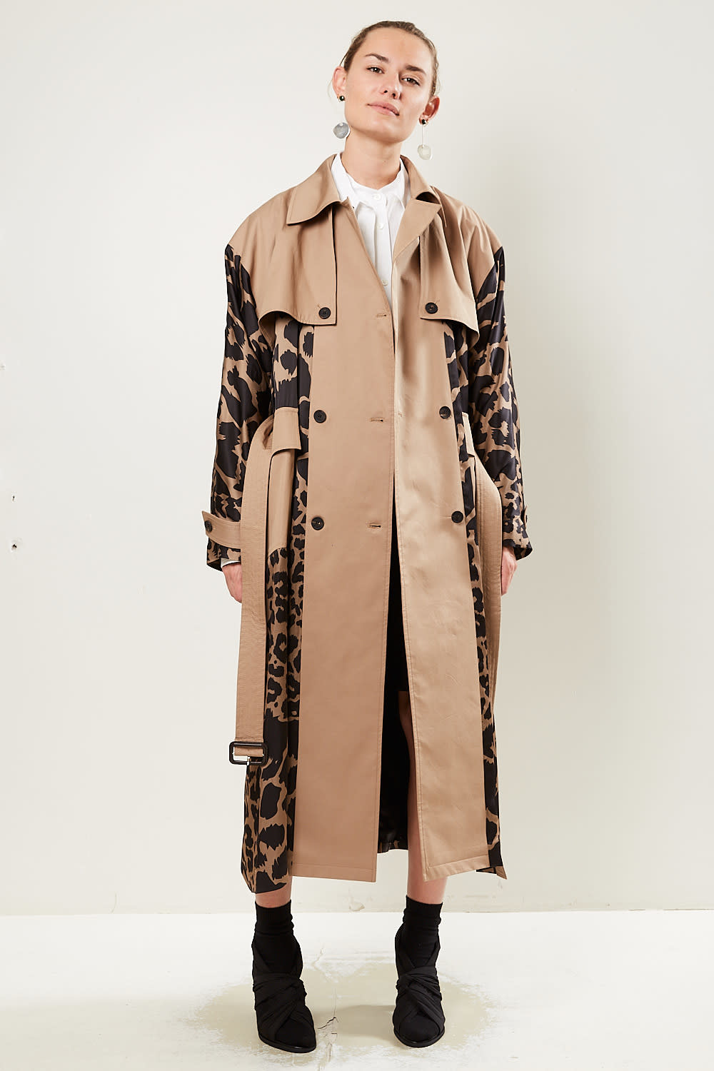 Frenken Snake leopard satin coat