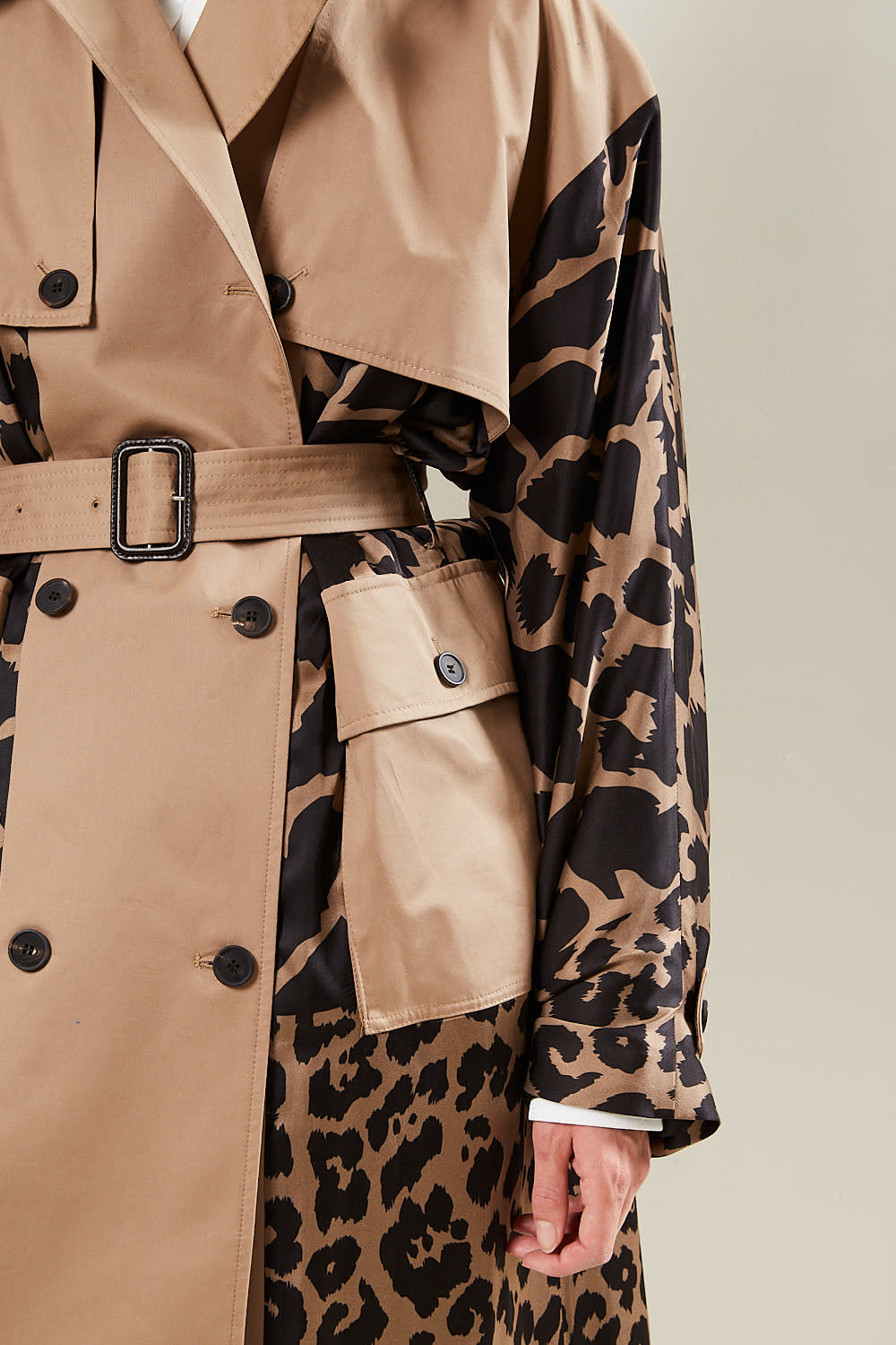 Frenken - Snake leopard satin coat
