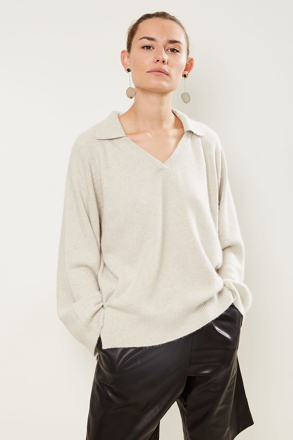 loulou studio Sperone v neck sweater