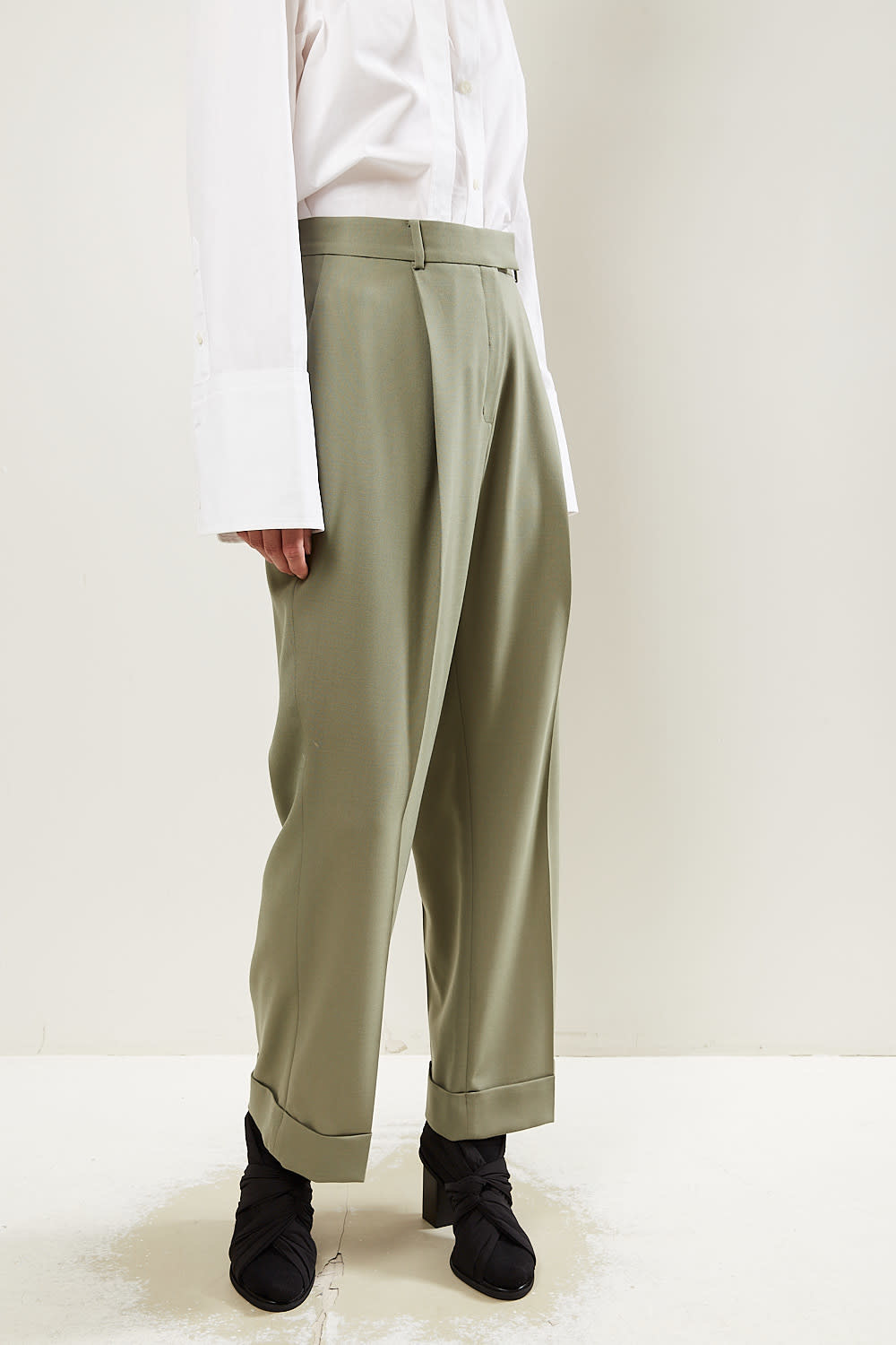 Frenken - Detail light suiting wool pants