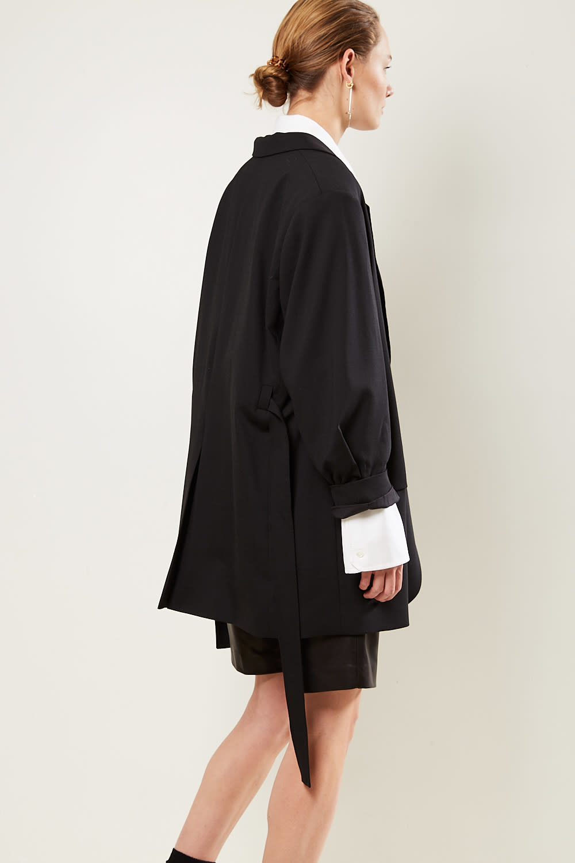 Frenken - Wrap woven blazer