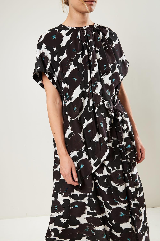 Christian Wijnants - Damla short sleeve draped dress