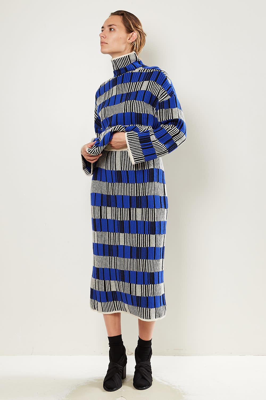 Christian Wijnants - Kalki jaquard knit skirt