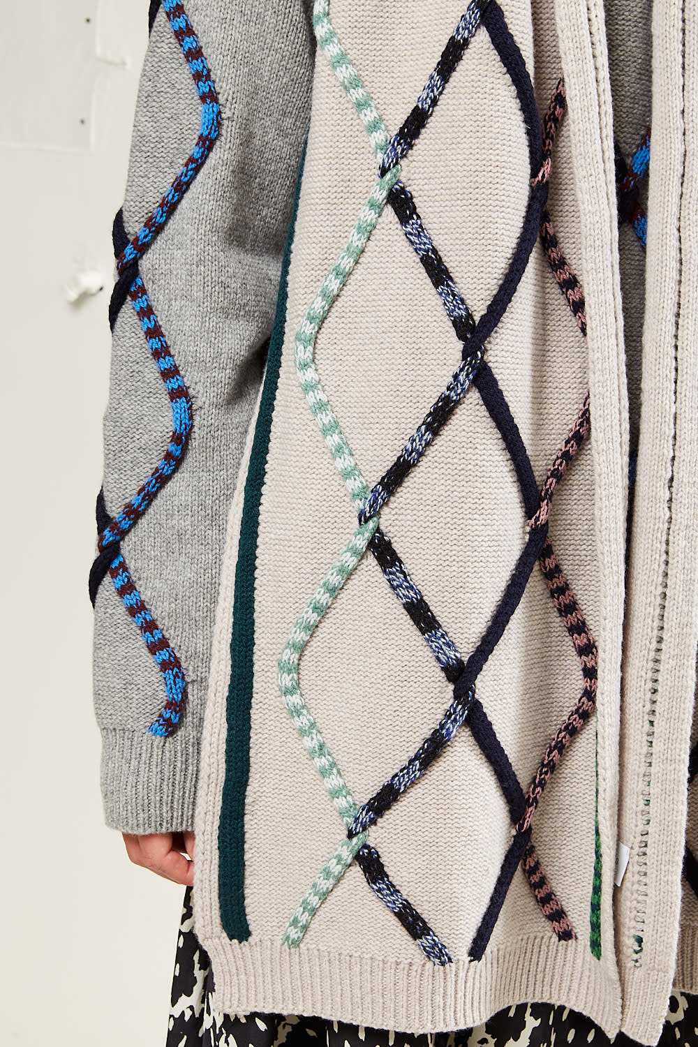 Christian Wijnants - Karak colored tube cable scarf