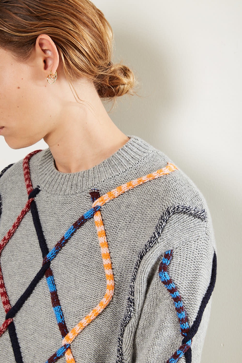 Christian Wijnants - Kirabo colored tube cable sweater