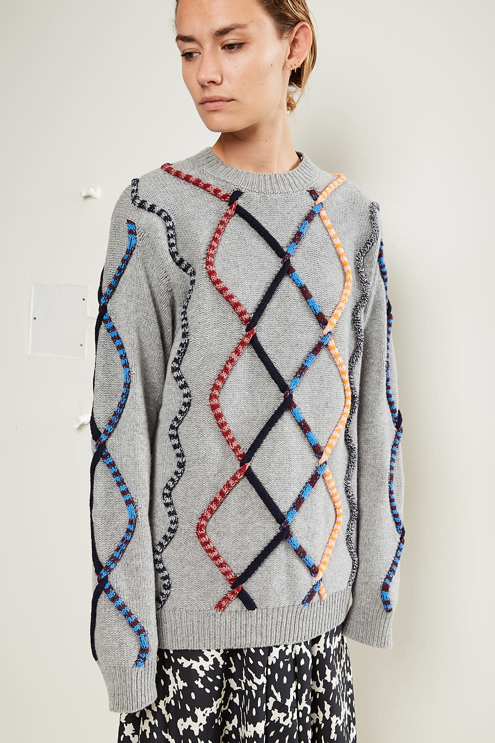 Christian Wijnants Kirabo colored tube cable sweater