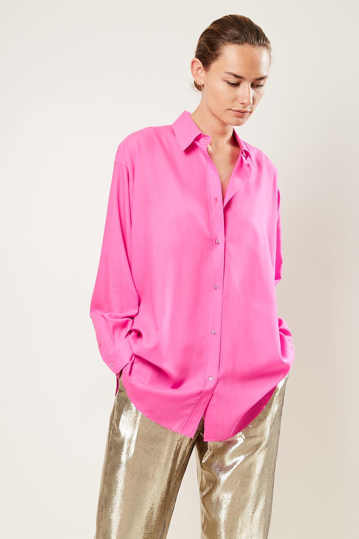 inDRESS - Oversized 100% wool shirt