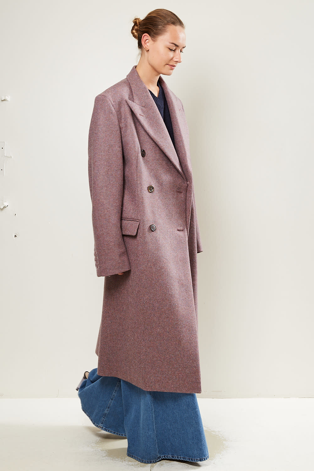 Maison Margiela double-breasted tailored wool coat