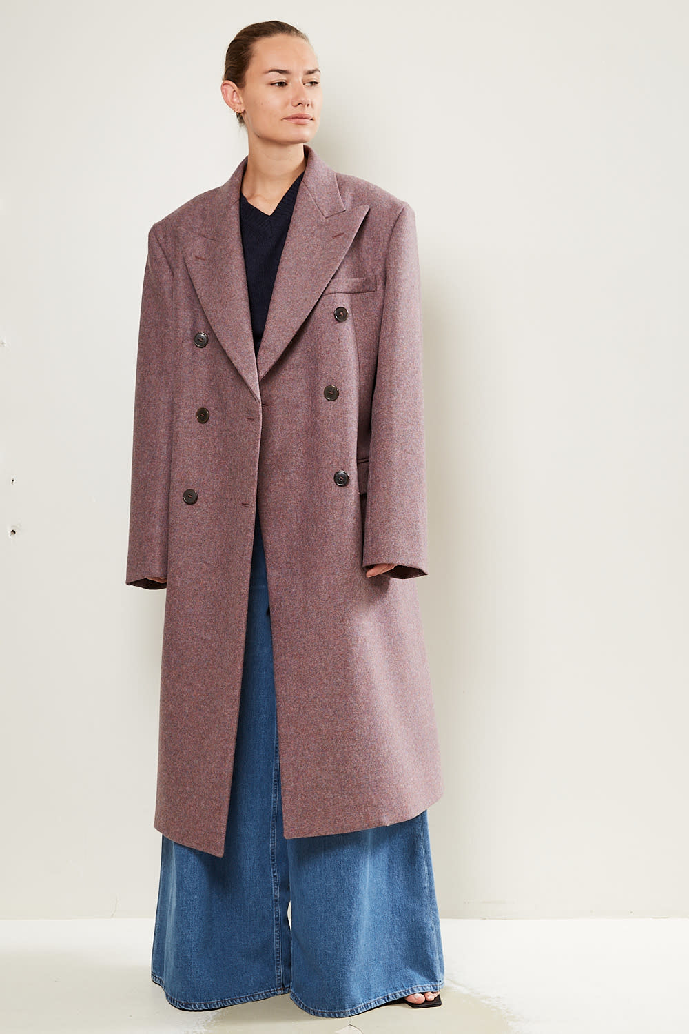 Maison Margiela - double-breasted tailored wool coat