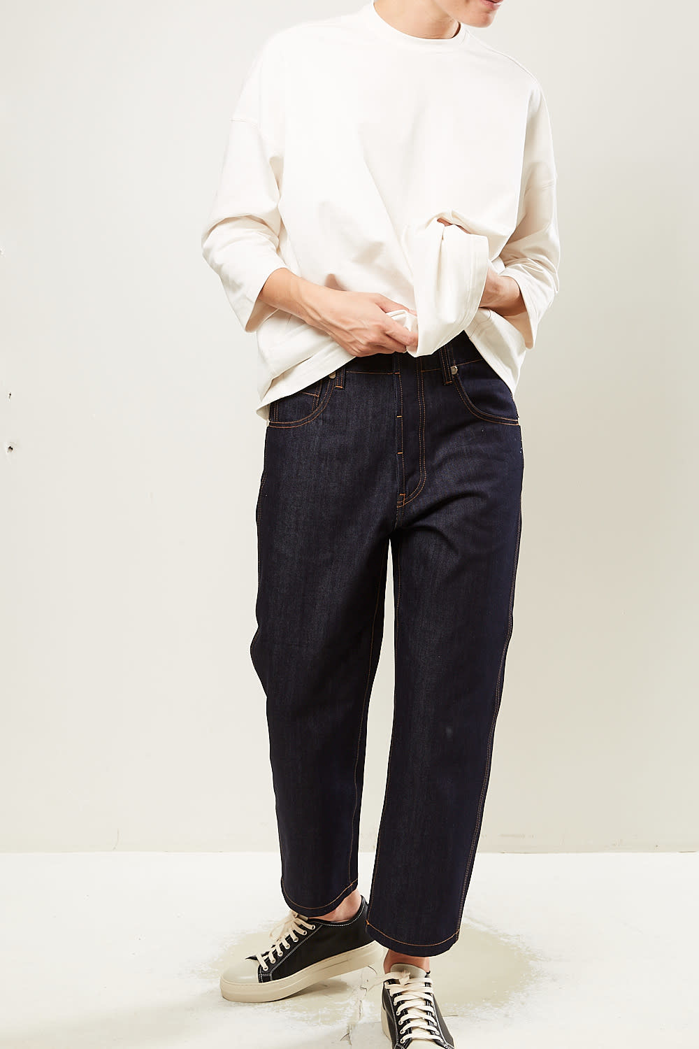 Sofie d'Hoore Pollock cotton denim trousers