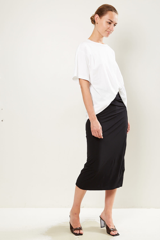 Helmut Lang - Twist crepe skirt
