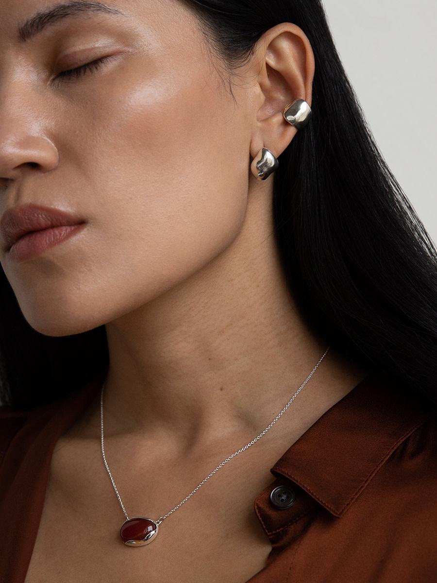 Faris - Bubble ear cuff
