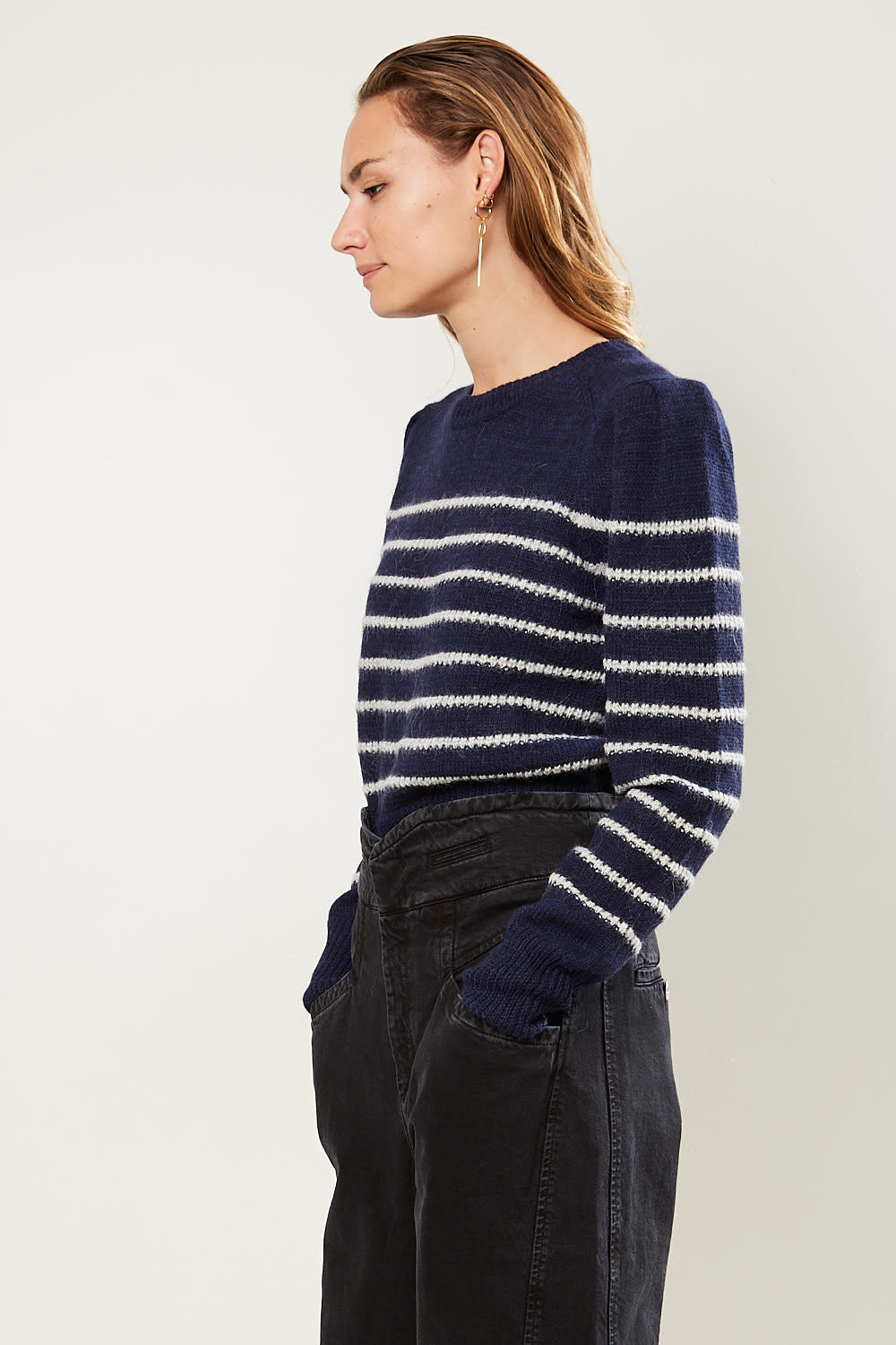 Etoile Isabel Marant Kleef striped alpaca sweater