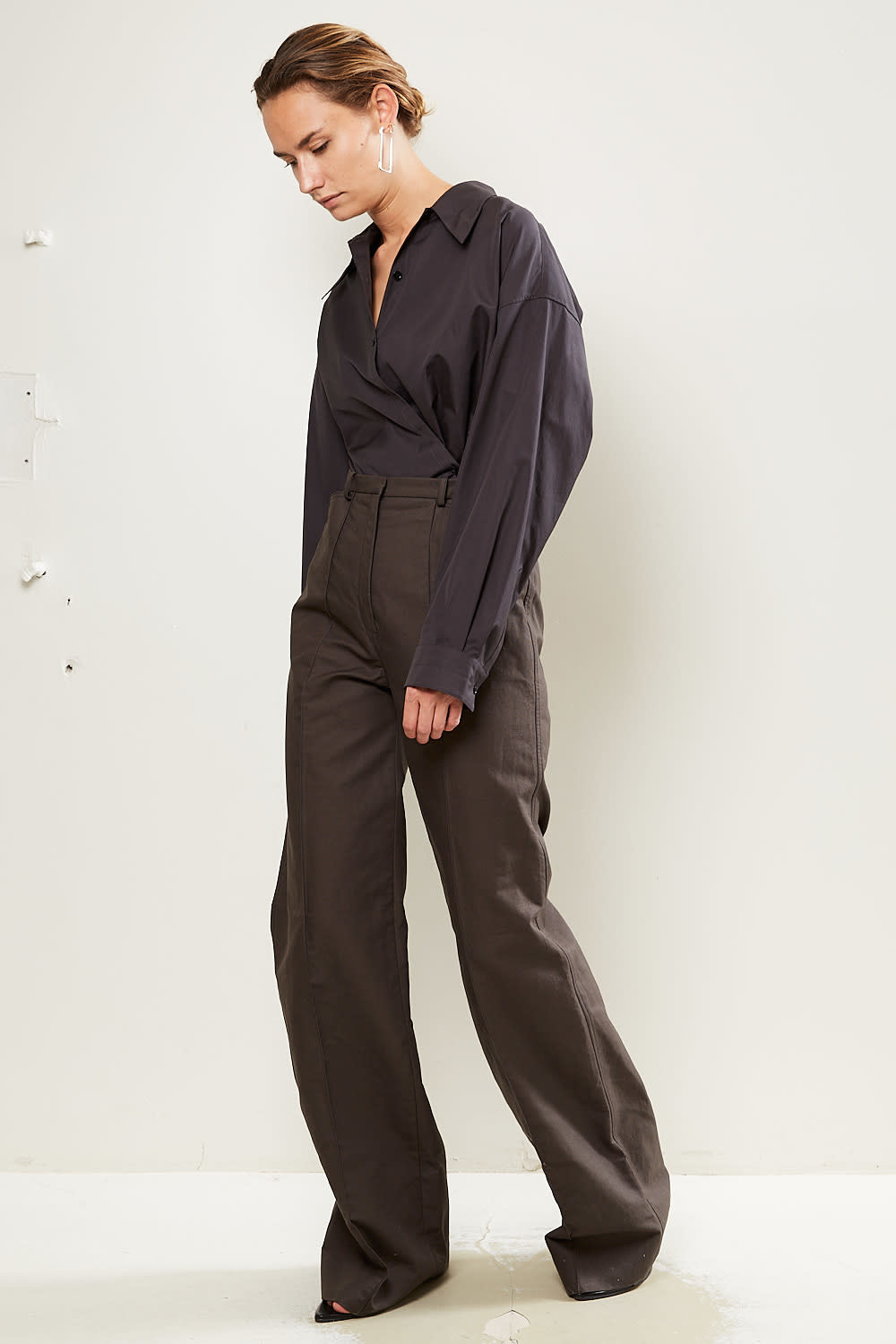 Lemaire - High waisted flared trousers.