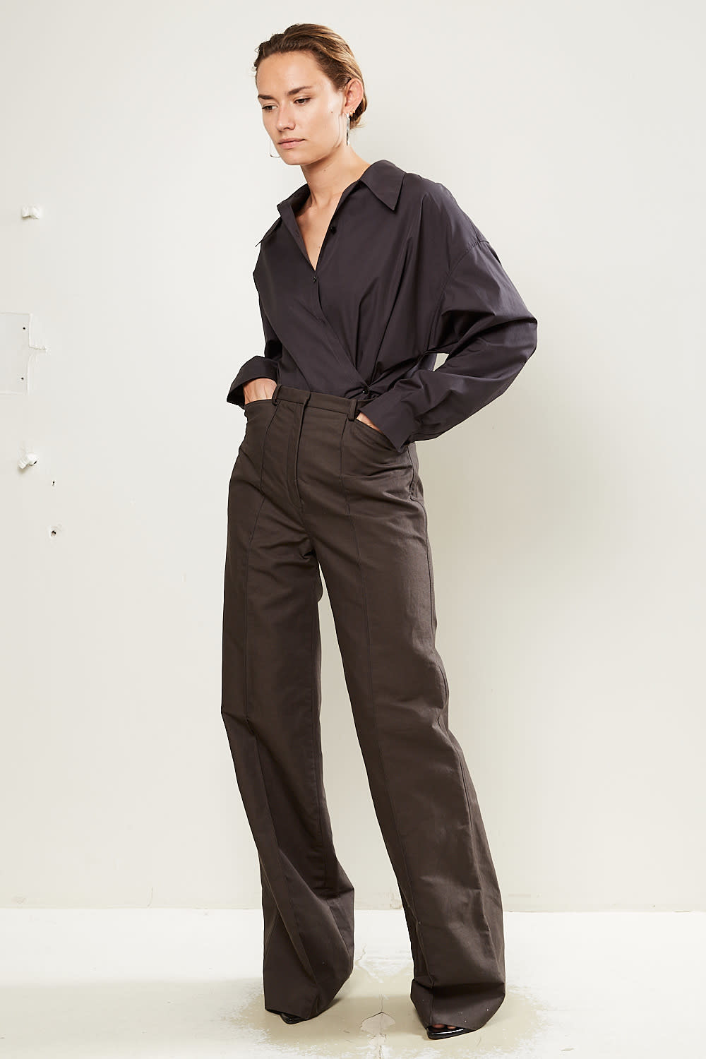Lemaire High waisted flared trousers.