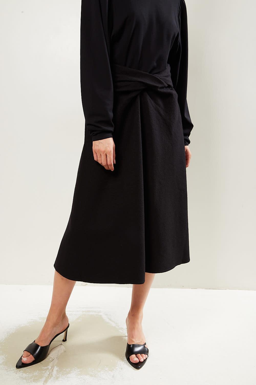 Lemaire - Draped skirt