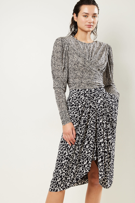 Etoile Isabel Marant - Siasi printed city flou skirt