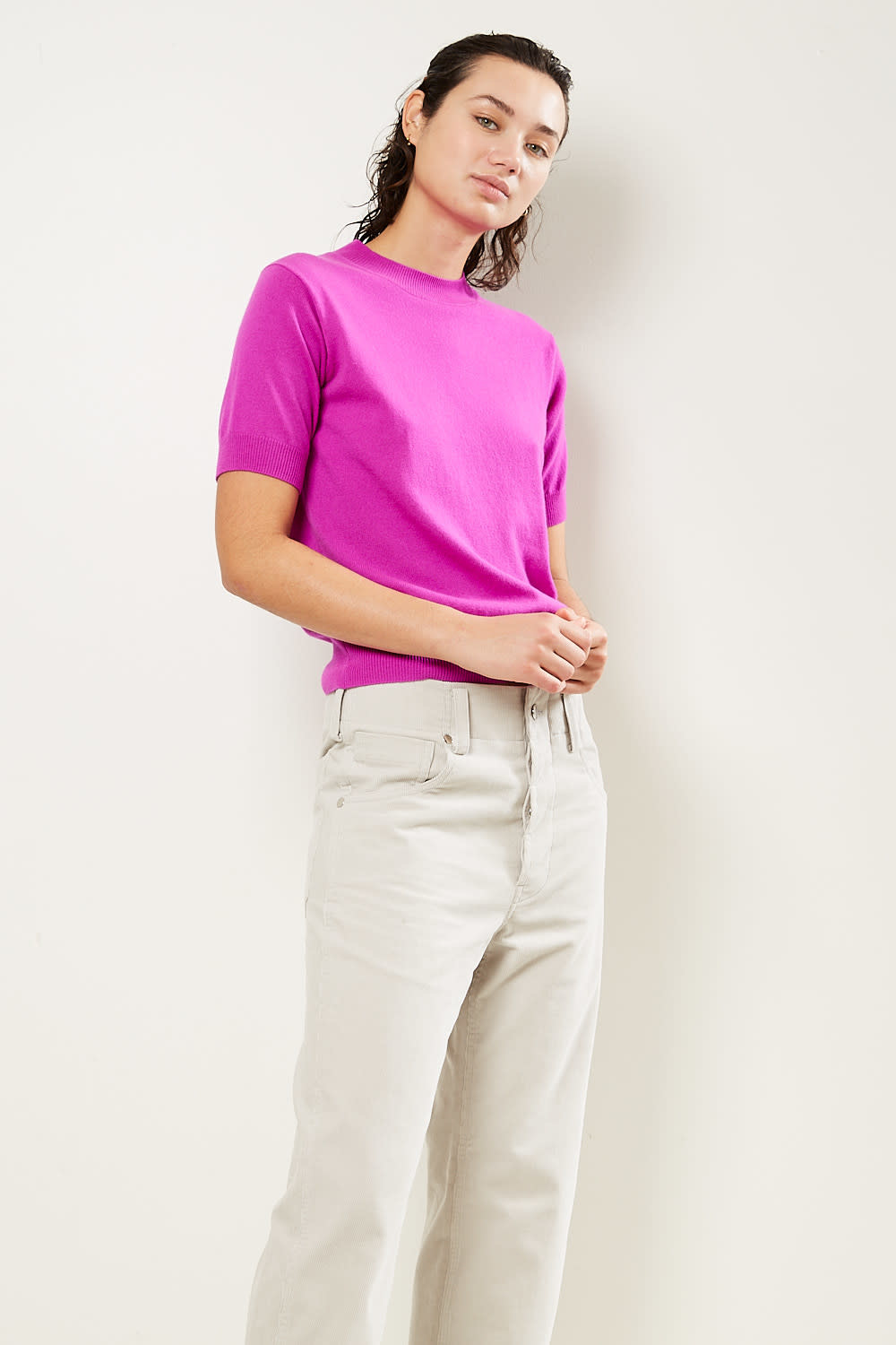 Sofie d'Hoore - Matisse 1 ply short sleeve sweater