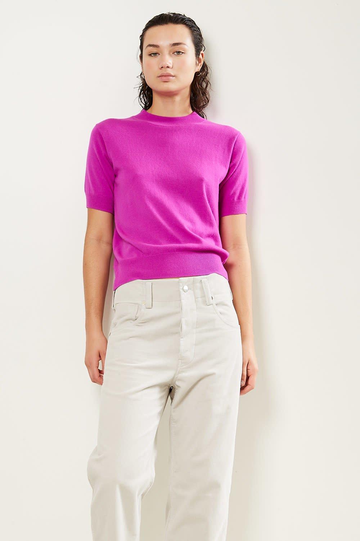 Sofie d'Hoore Matisse 1 ply short sleeve sweater