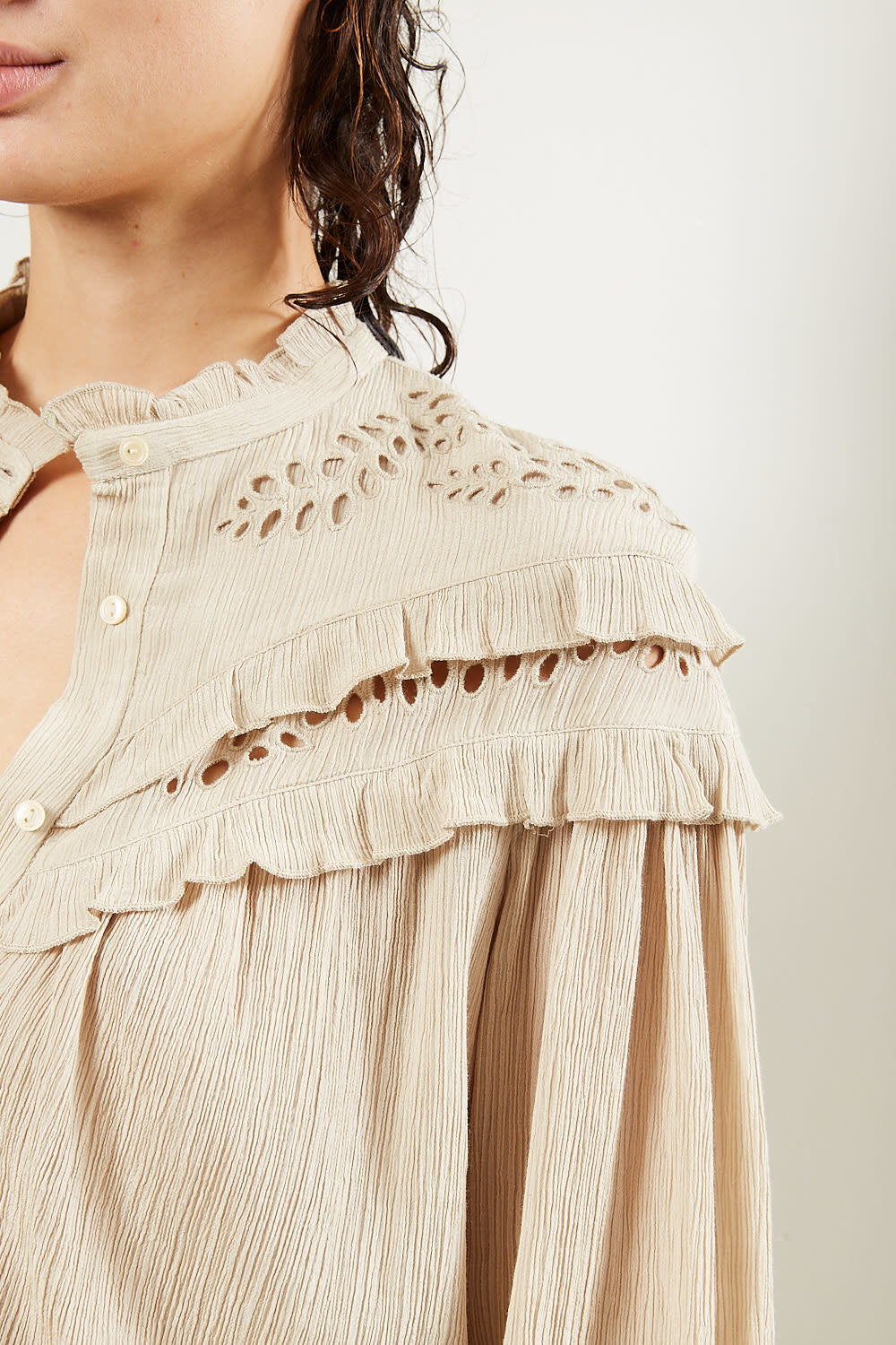 Etoile Isabel Marant - Izae light embroidered top