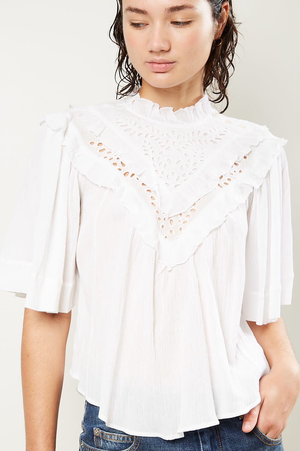 Etoile Isabel Marant - Idoa light embroidered top