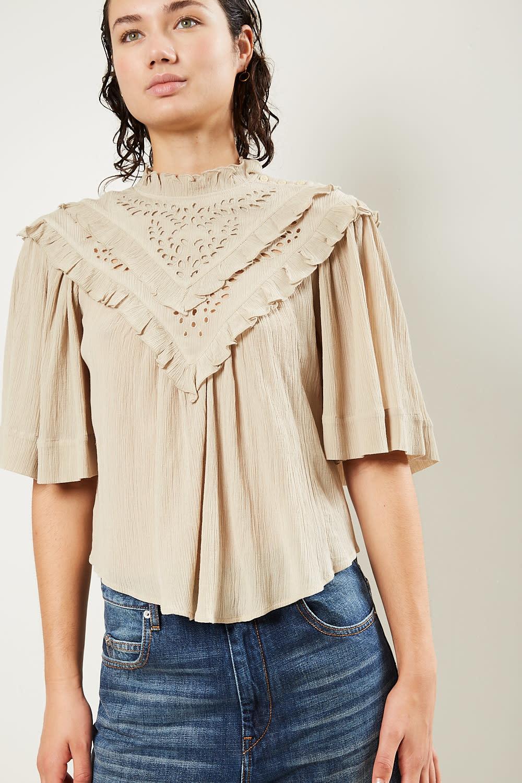 Etoile Isabel Marant Idoa light embroidered top