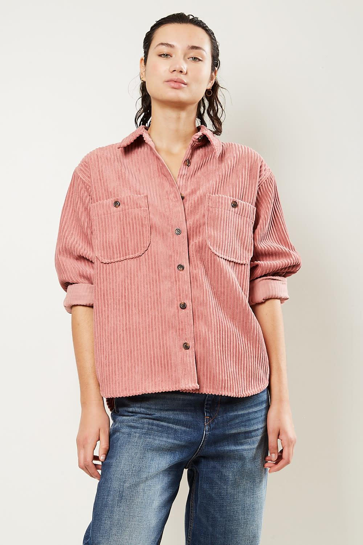 Etoile Isabel Marant Dexo velvet costard shirt