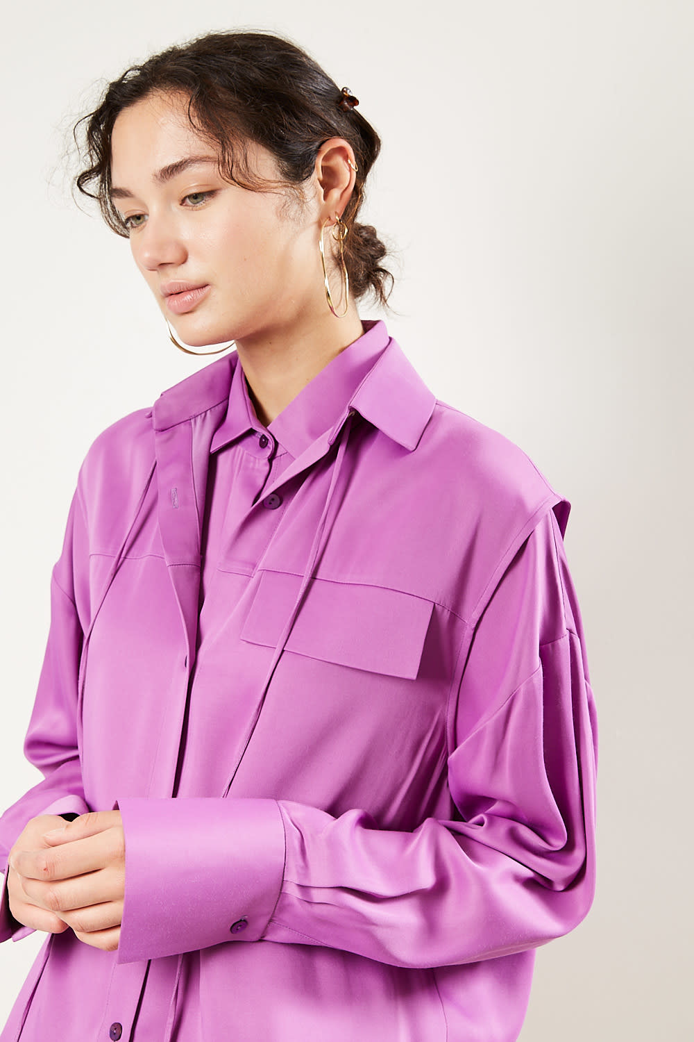 Áeron - Deysi recycled satin shirt