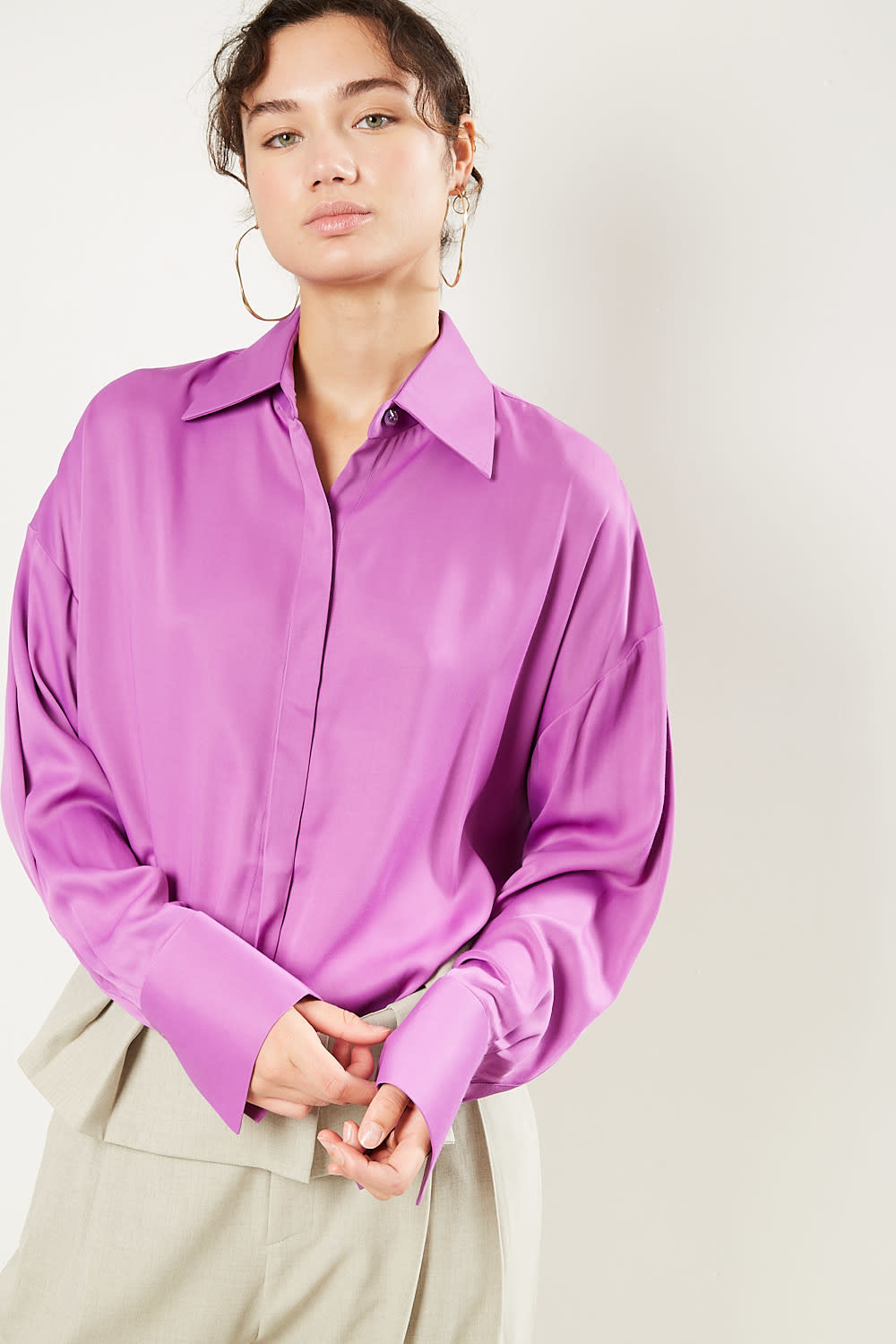 Áeron Guido recycled satin shirt
