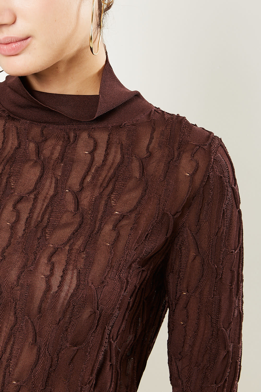 Christian Wijnants - Kahna lace knit turtle neck sweater