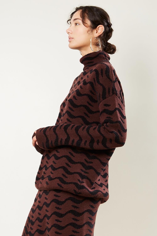 Christian Wijnants - Kirta small wave jacquard sweater