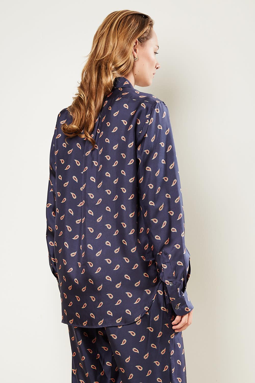 bananatime - Collar pocket paisley tears shirt