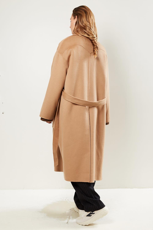 Nanushka - Alamo double wool silk blend coat