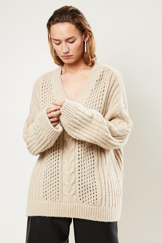 Nanushka Arwan chuncky cable knit sweater